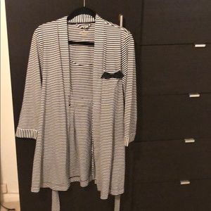 Kate Spade ♠️ Robe (Black/White Stripes)